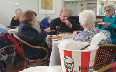 KFC luncheon Al Fresco style